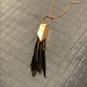 INC International Concepts Jewelry - Black feather necklace by INC